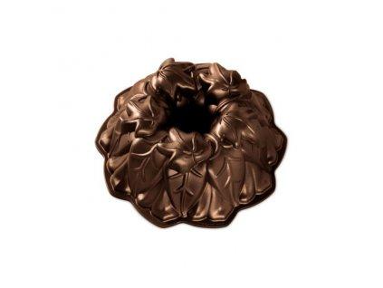 Forma na bábovku LISTY VINNÉ RÉVY 10 cup, tmavě hnědá Nordic Ware