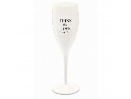 Sklenička CHEERS 100 ml, bílá s potiskem Think less Love more, Koziol 3