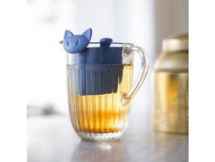 Sítko na čaj MIAOU ORGANIC modrá, Koziol