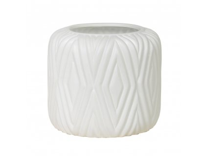 Květináč RHOMBE p. 16 cm, bílý Broste