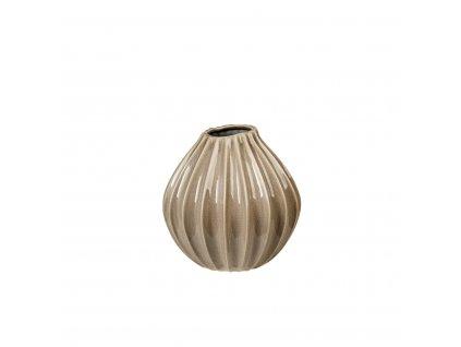 Váza WIDE 25 cm. šedohnědá Broste