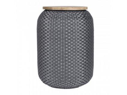 Stolek HALO v. 62 cm, tmavě šedý Handed By