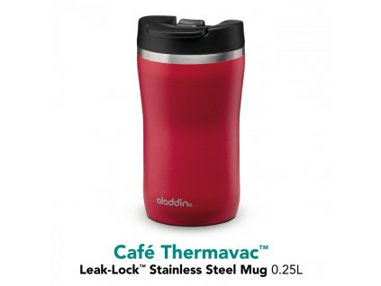 Termohrnek Café Thermavac Leak Lock™ 250 ml, červená ALADDIN.