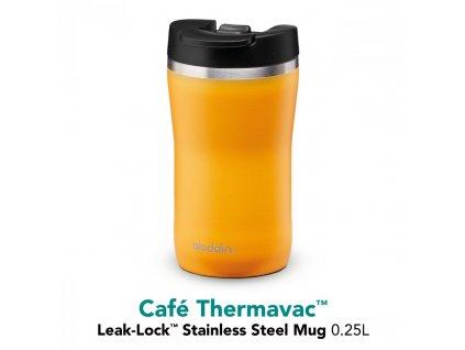 Termohrnek Café Thermavac Leak Lock™ 250 ml, žlutá ALADDIN