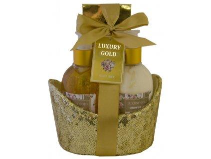 Dárková kosmetická sada LUXURY GOLD 3 díl., SALSA COLLECTION