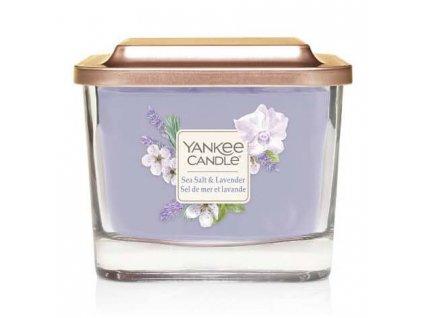 Yankee Candle vonná svíčka ELEVATION Sea Salt & Lavender, sklo střední