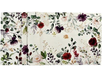Středový pás DEEP FLOWERS 50 x 140 cm, Sander