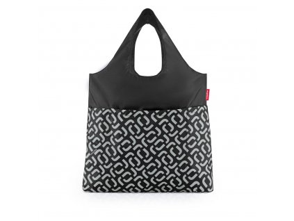 Skládací taška mini maxi SHOPPER plus signature black, Reisenthel