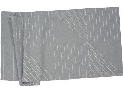 Středový pás WINSTON 50 x 150 cm, šedý Sander