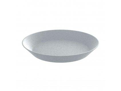 Talíř hluboký CONNECT ORGANIC 24 cm, šedý Koziol