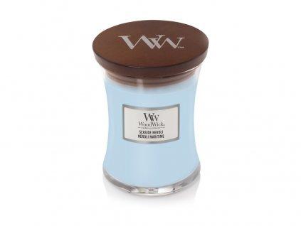 WoodWick vonná svíčka sklo střední SEASIDE NEROLI, 275 g