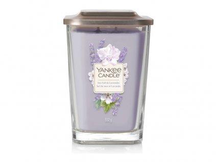 Yankee Candle vonná svíčka ELEVATION Sea Salt & Lavender, sklo velké
