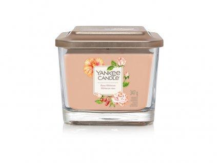 Yankee Candle vonná svíčka ELEVATION Rose Hibiscus, sklo střední