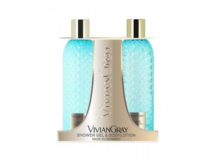 Kosmetická sada sprchový gel + tělové mléko, Jasmine & Patchouli Vivian Gray