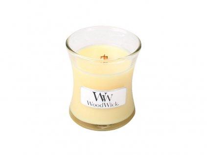 WoodWick vonná svíčka, sklo malé Lemongrass & Lily, 85 g