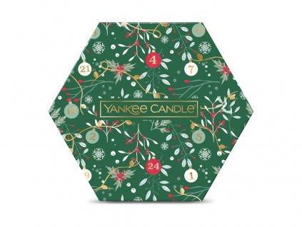 Yankee Candle vánoční dárková sada 18 ks čajová svíčka + svícen