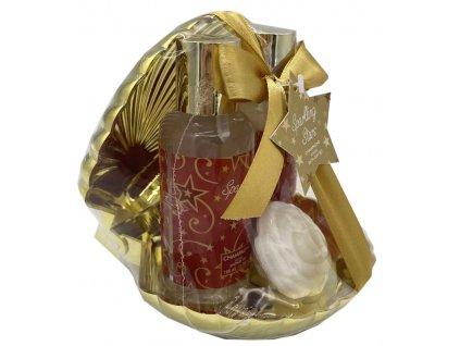 Kosmetická dárková sada Sparkling Stars lastura zlatá 3 díl., Salsa Collection