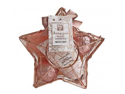 Kosmetická dárková sada Champagne Mood, měděná 4 dílná, Salsa Collection