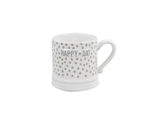 Hrnek MUG WHITE HAPPY DAY 200 ml Bastion Collections
