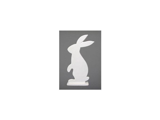 Keramický zajíc bílý 18,5 cm Gasper