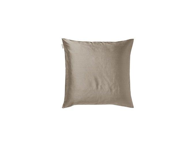 Povlak na polštář DUPION 50 x 50 cm světle hnědá Linum