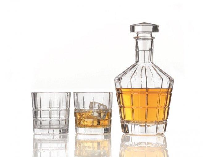 Karafa + 2 skleničky na whisky set 3ks Leonardo