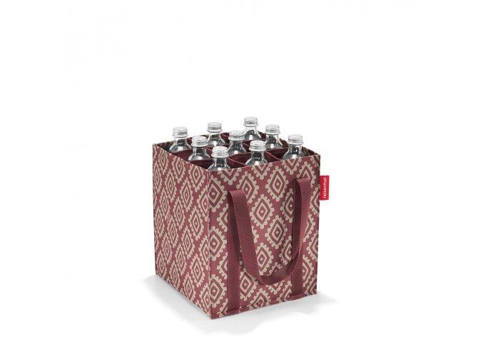 Taška na lahve BOTTLEBAG diamonds rouge Reisenthel