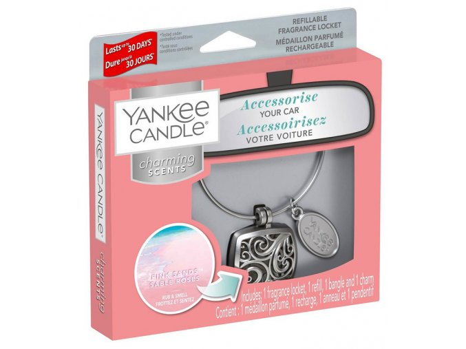 Yankee Candle Charming scents set SQUARE vůně do auta Pink Sands