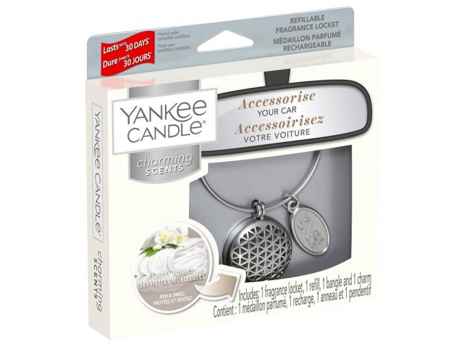 Yankee candle Charming Scents set GEOMETRIC vůně do auta Fluffy Towels