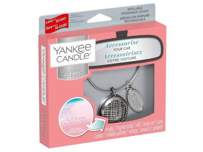 Yankee Candle Charming Scents set LINEAR vůně do auta Pink Sands