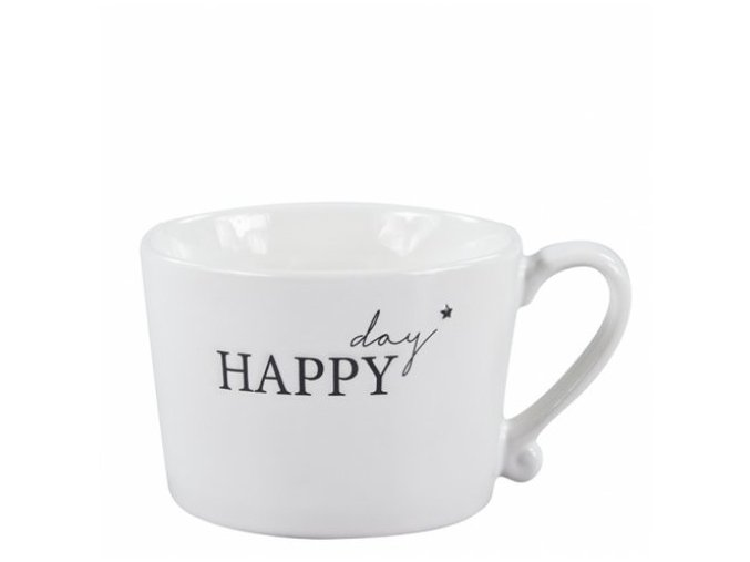 Hrnek White Happy day in Black Bastion Collections