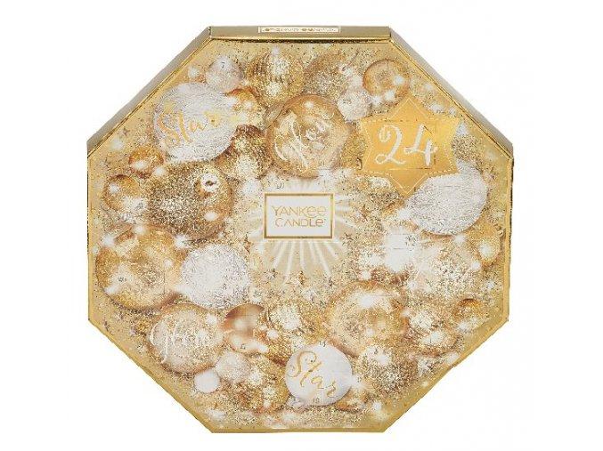 Yankee Candle vánoční adventní kalendář 24 ks čajových svíček a svícen