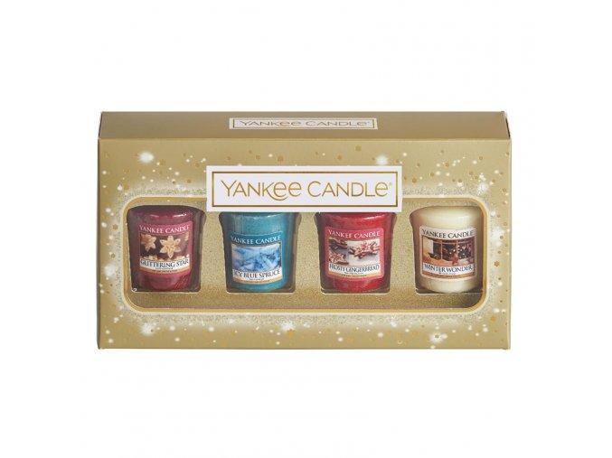 Yankee Candle vánoční dárková sada 4 ks votiv svíček