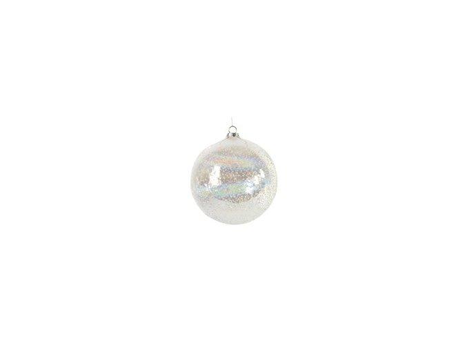 Vánoční ozdoba SURREY M čirá 10 cm Decostar