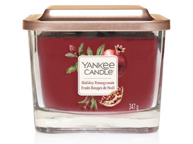 Yankee Candle vonná svíčka ELEVATION Holiday Pomegranate sklo střední