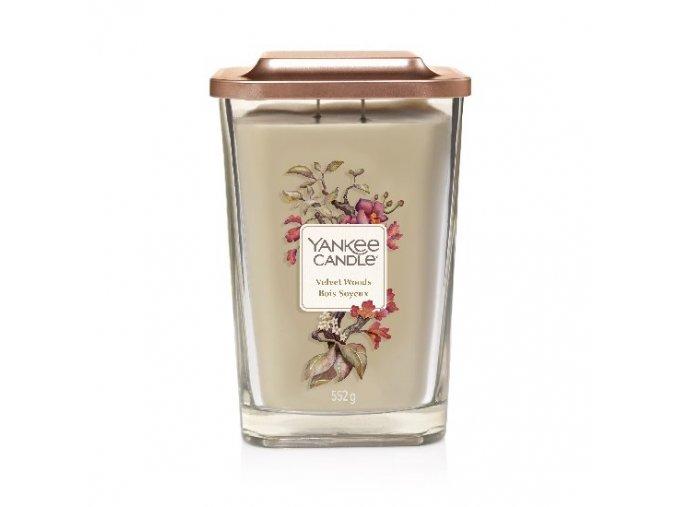 Yankee Candle vonná svíčka ELEVATION Velvet Woods sklo velké