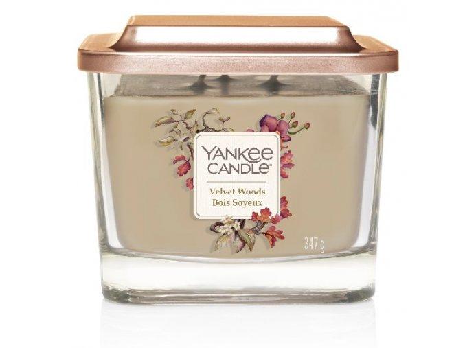 Yankee Candle vonná svíčka ELEVATION Velvet Woods sklo střední