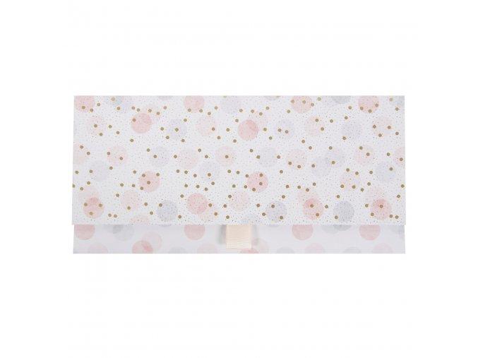 Přání dárková obálka 23 x 11 cm Elegant Dots