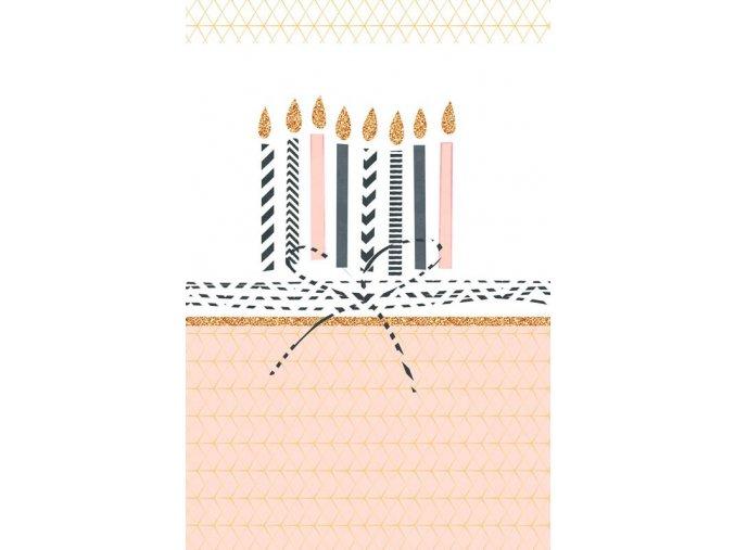 Přání ražené dort s obálkou ARTEBENE