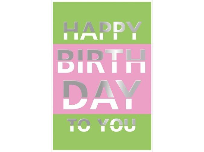 Přání s obálkou Happy birthday ARTEBENE