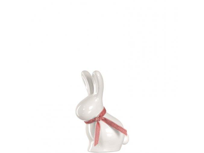 Dekorační zajíc Gino bílý 15 cm Leonardo