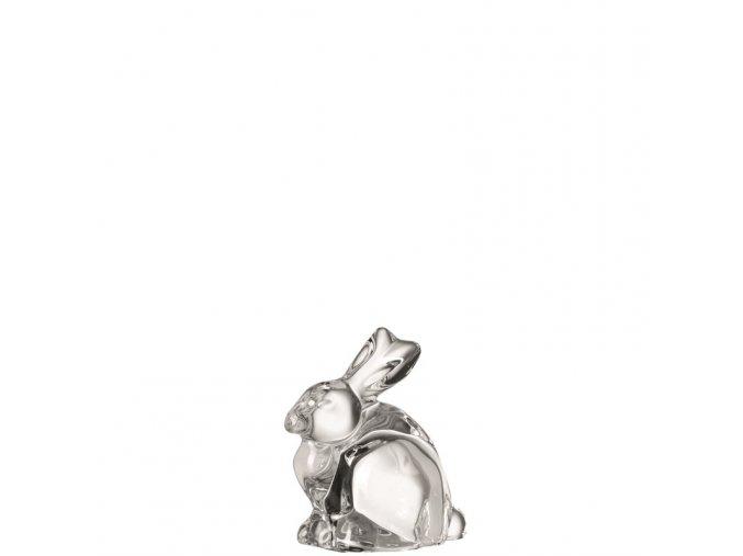 Dekorační zajíc NIDO 7 cm skleněný čirý Leonardo