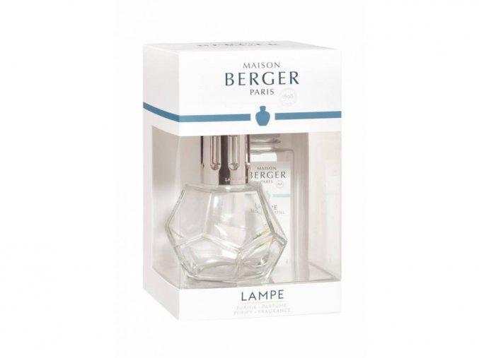 Maison Berger Paris set katalytická lampa GEOMETRY transparentní + vůně VERBENA 180 ml