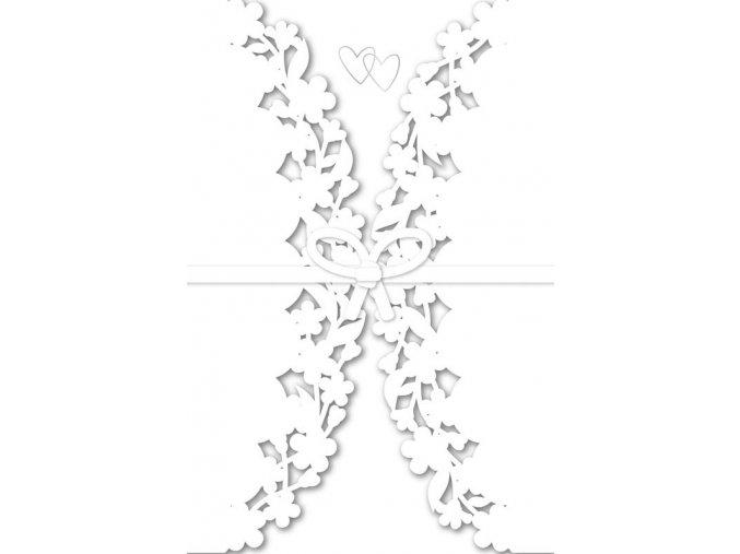 Přání s obálkou svatební květy a srdcen Artebene