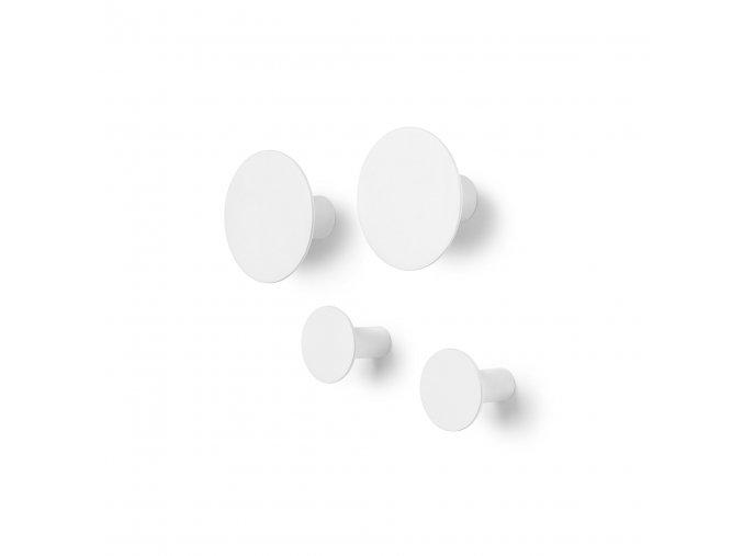 Háčky na zeď PONTO set 4 ks bílé Blomus