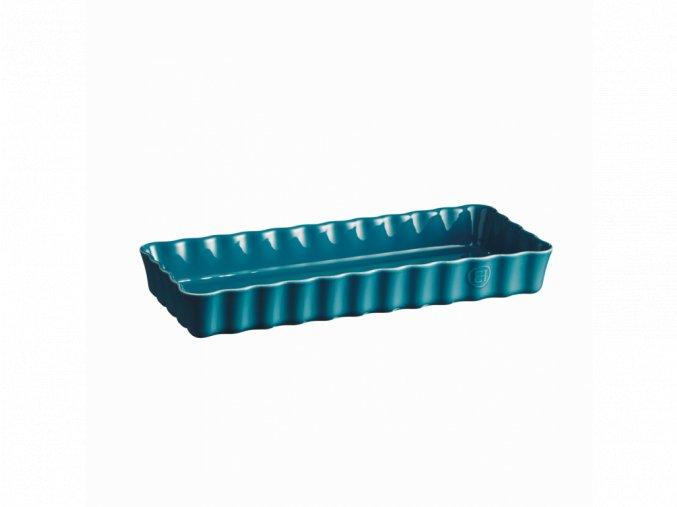 Forma koláčová CALANQUE obdélníková, modrá 15 x 36 cm Emile Henry