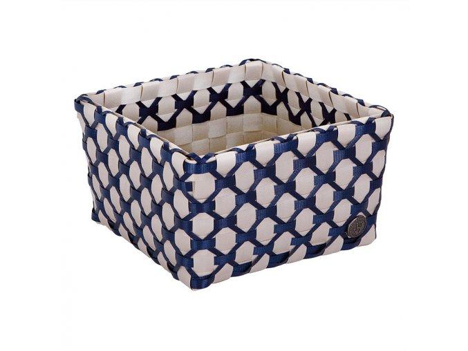 Košík ALBI 21 x 21 cm modrá,béžová Handed By