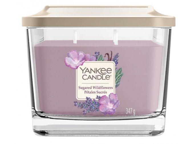 Yankee Candle vonná svíčka ELEVATION Sugared Wildflowers sklo střední