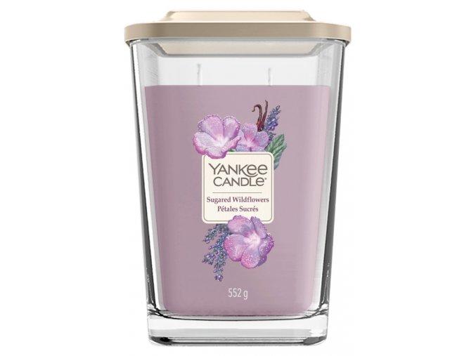 Yankee Candle vonná svíčka ELEVATION Sugared Wildflowers sklo velké