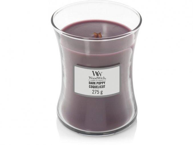 WoodWick vonná svíčka sklo střední DARK POPPY 275 g
